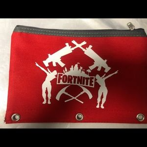 Red fortnite pencil pouch